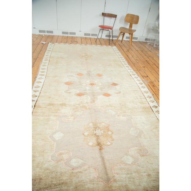 "Textile Vintage Oushak Rug Runner - 6'3"" X 12'5"" For Sale - Image 7 of 10"
