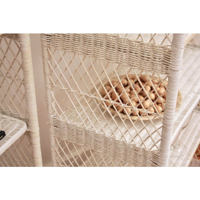 Danny Ho Fong-Style Wicker Etageres, Set of 2 For Sale - Image 9 of 12
