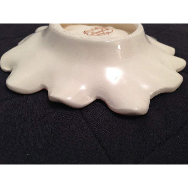 Vintage Stangl Pottery Pink Anemone Floral Dish - Image 9 of 11