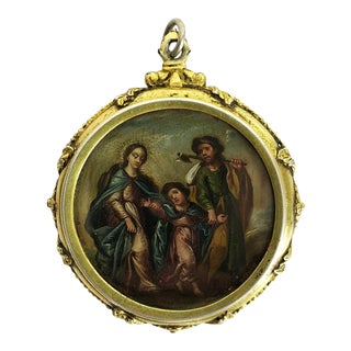 19th Century Spanish Colonial Mexican Reliquary For Sale