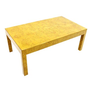 Burl Wood Coffee Table, Ca. 1970`s For Sale