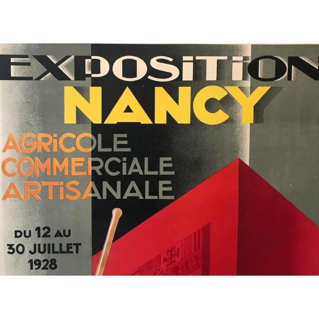 1928 Original French Art Deco Poster, Paul Colin, Exposition De Nancy (Large) For Sale - Image 6 of 9