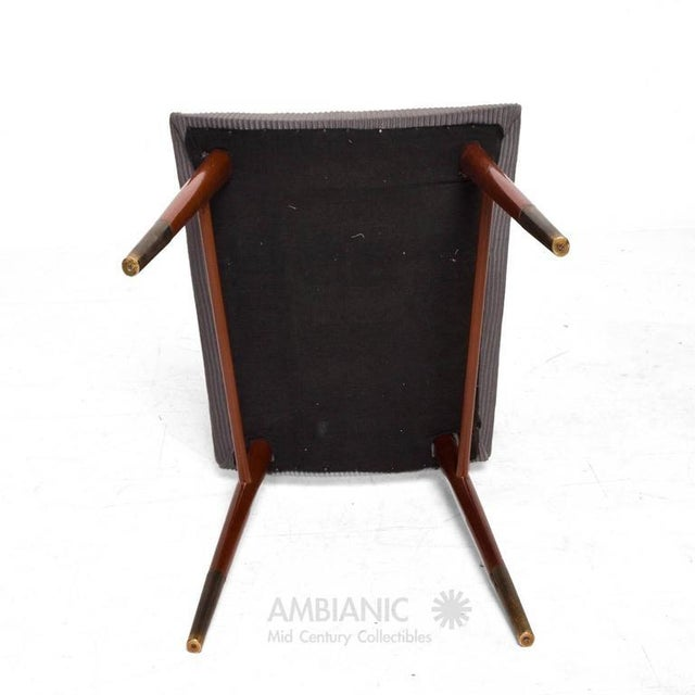 Brass Set of 15 Mid-Century Modern Mahogany & Brass Dining Chairs For Sale - Image 7 of 10
