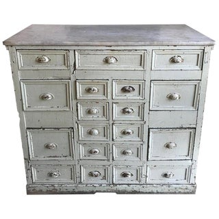 19th Century Shabby Chic Apothecary Cabinet For Sale