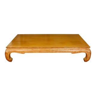 Large Michael Taylor Style Limed Oak Coffee Table For Sale