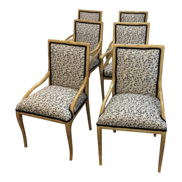 custom mid century papyrus style frame chairs set of 6 chairish