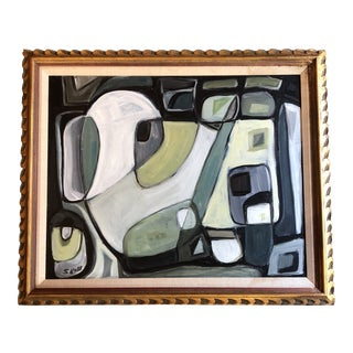 Original Stewart Ross Abstract Modernist Painting For Sale
