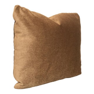 Custom Pillow With Brown Mohair Velvet From Schumacher For Sale