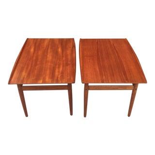 1960s Vintage Grete Jalk for Golstrup Danish Side Tables - A Pair For Sale