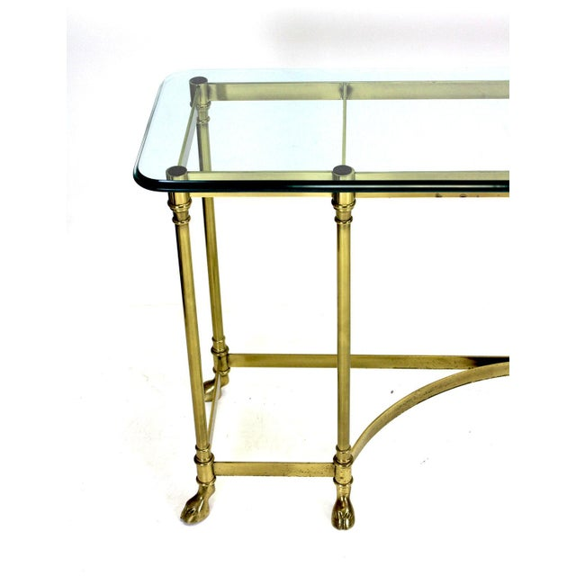 Italian Brass Hoof Foot Console For Sale - Image 9 of 10