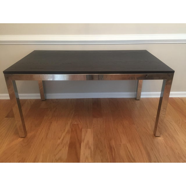 From Mitchell Gold + Bob Williams, a Classic Parsons Dining Table that has barely been used at a vacation home. A modern...