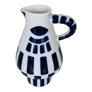 Sargadelos Modernist Blue and White Creamer For Sale