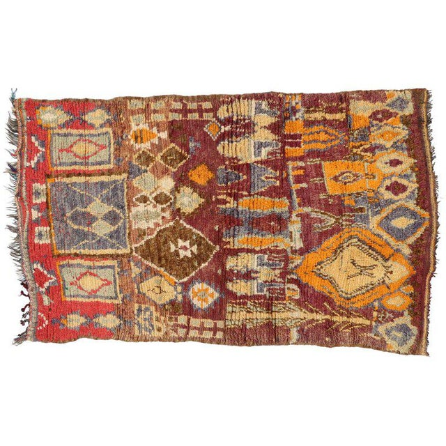 Vintage Berber Moroccan Rug with Modern Tribal Style - Image 4 of 5
