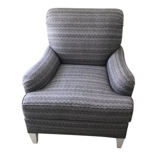 Lilac Missoni Style Upholstered Club Chair For Sale