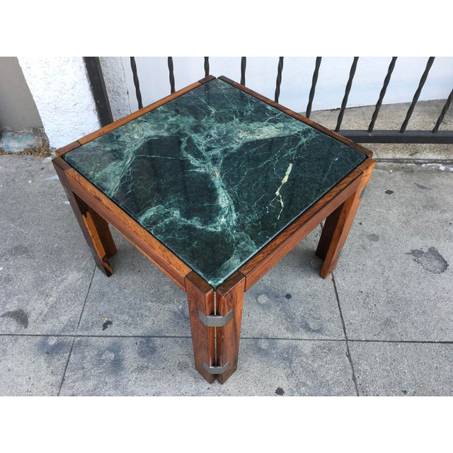Verde Green Marble Top Side Table - Image 2 of 10