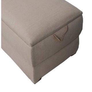 Pair of Italian Trunks Upholstered in Antique White Linen Preview