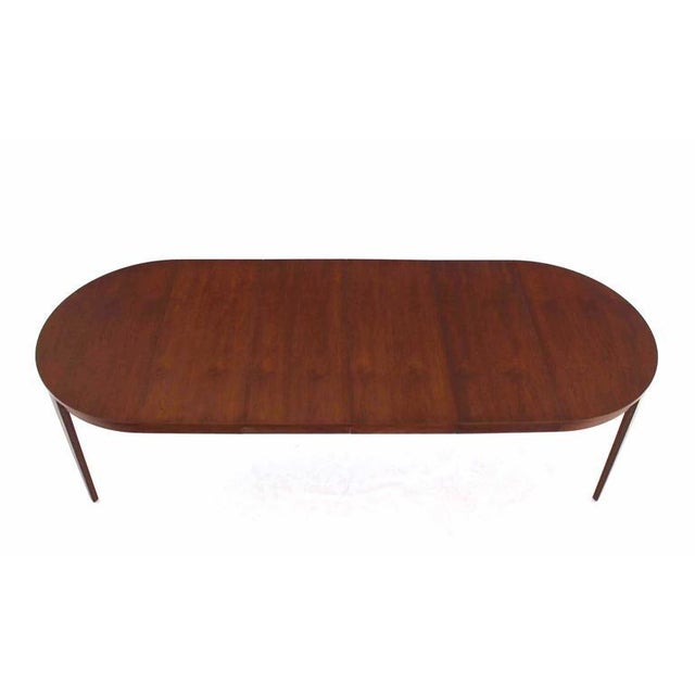 Fine Round Dunbar Dining Conference Table Four Extension Leaves DECASO - Round conference table for 8