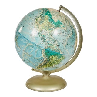 1960s Table Top World Globe For Sale