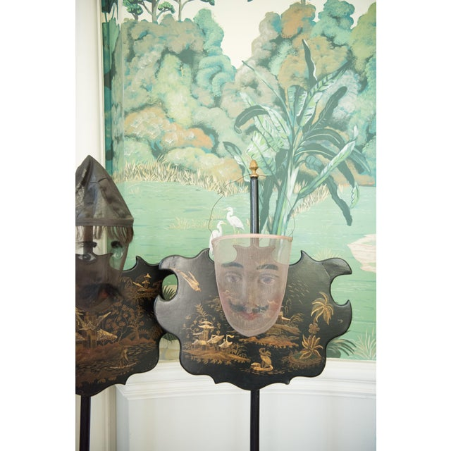 Chinoiserie Pole Screens 19th C. English For Sale In Savannah - Image 6 of 7
