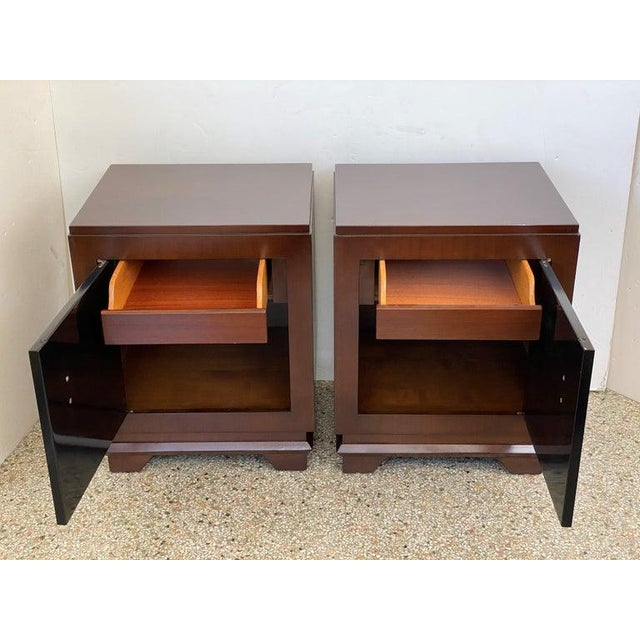 1930s French Art Deco Moderne Night Stands - a Pair For Sale - Image 4 of 13