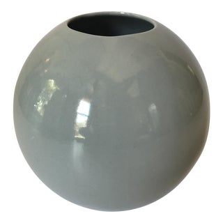 Vintage Gray Pottery Vase