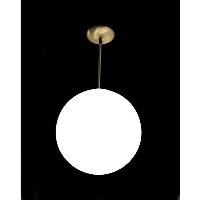 Vintage Mid-Century Globe Pendant Light - Image 3 of 4
