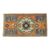 "Image of Hand Knotted Door Mat, Entryway Rug, Bath Mat, Kitchen Decor, Small Rug, Turkish Rug - 1'7"" X 2'11"" For Sale"