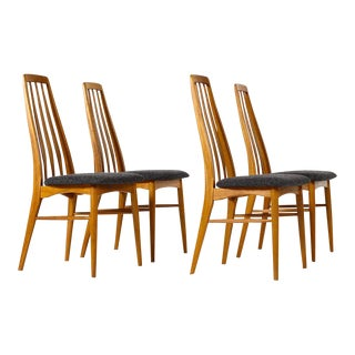 "1960s Danish Modern Niels Koefoed ""Eva"" Dining Chairs - Set of 4 For Sale"