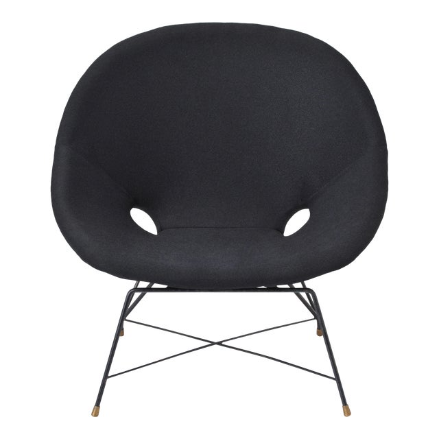 Black Italian Cosmos Lounge Chair by Augusto Bozzi for Saporiti For Sale