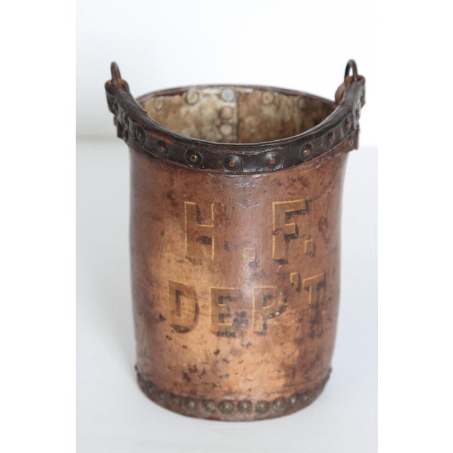 A 19th Century English Leather Fire Bucket For Sale - Image 10 of 13