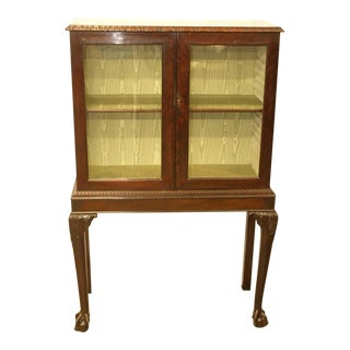 19th Century Chippendale Style Mahogany Display Cabinet on Stand For Sale