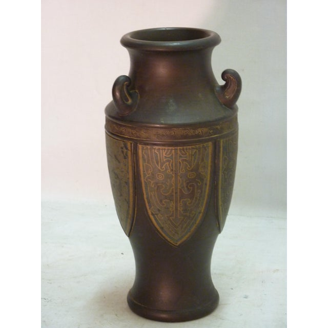 Japanese Bronze Tone Vase Chairish