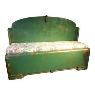 Custom Green Bed Frame Bench
