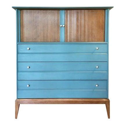 Mid-Century Tallboy Dresser For Sale