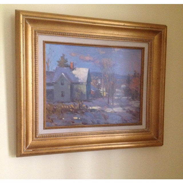 """""""Farm House """" oil painting on canvas. Signed by artist John C. Traynor."""