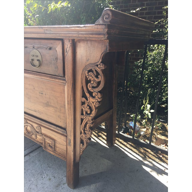 Antique Carved Wood Console - Image 10 of 10