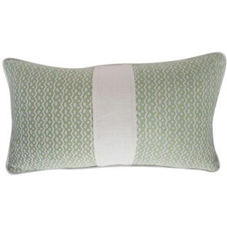 Fortuny Sulphur Green Tapa Pillow For Sale