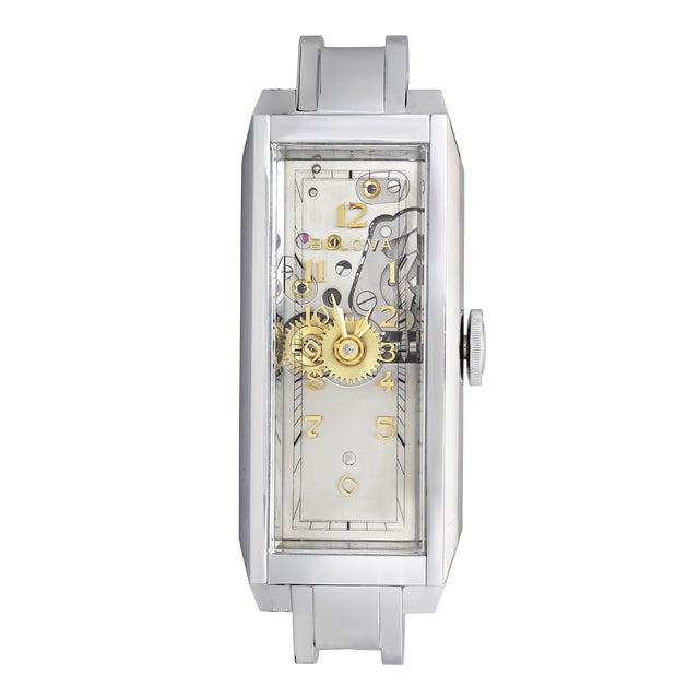 Metal Bulova Watch Co. Presentation Model Timepiece For Sale - Image 7 of 7