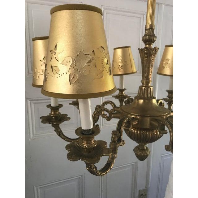 Antique Solid Brass Cherub Chandelier For Sale - Image 10 of 10 - Antique Solid Brass Cherub Chandelier Chairish