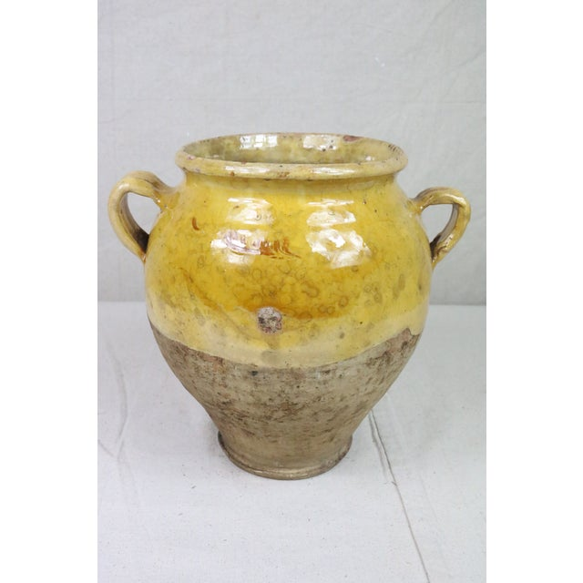 Late 19th Century Yellow Glazed French Confit Pot For Sale - Image 4 of 9
