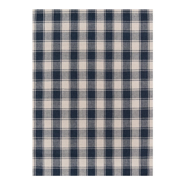 Erin Gates by Momeni Marlborough Charles Navy Hand Woven Wool Area Rug - 8′ × 10′ For Sale