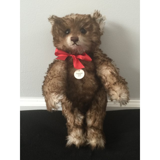 "Antique Steiff Teddy Bear - Replica, 1926 ""Happy Anniversary"" Teddy Bear For Sale - Image 12 of 12"