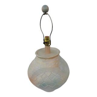 Large Vintage Ceramic Earthenware Lamp For Sale