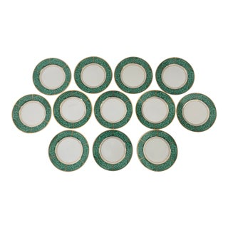 George's Briard Vintage Malachite Sized Plates - Set of 12 For Sale