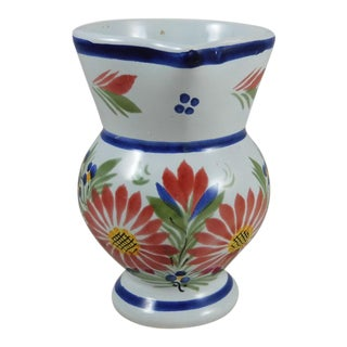 1940s French Quimper Pitcher For Sale
