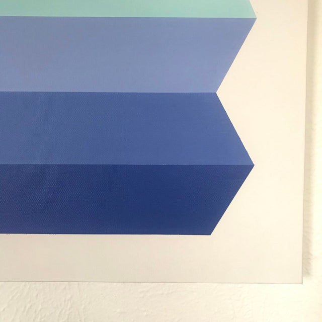 "Natasha Mistry ""Terracotta Sky"" Origami Acrylic Painting For Sale - Image 4 of 6"