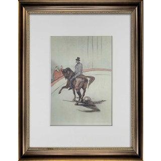 Vintage Henri De Toulouse-Lautrec Limited Edition Lithograph | Circus Horse W/Frame For Sale