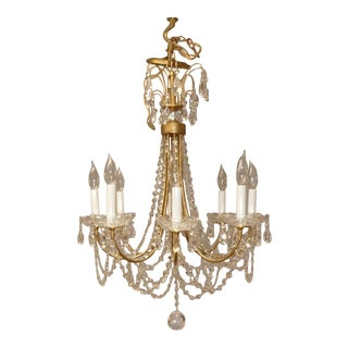 Schonbek 8 Light Lucia Crystal Chandelier in French Gold For Sale