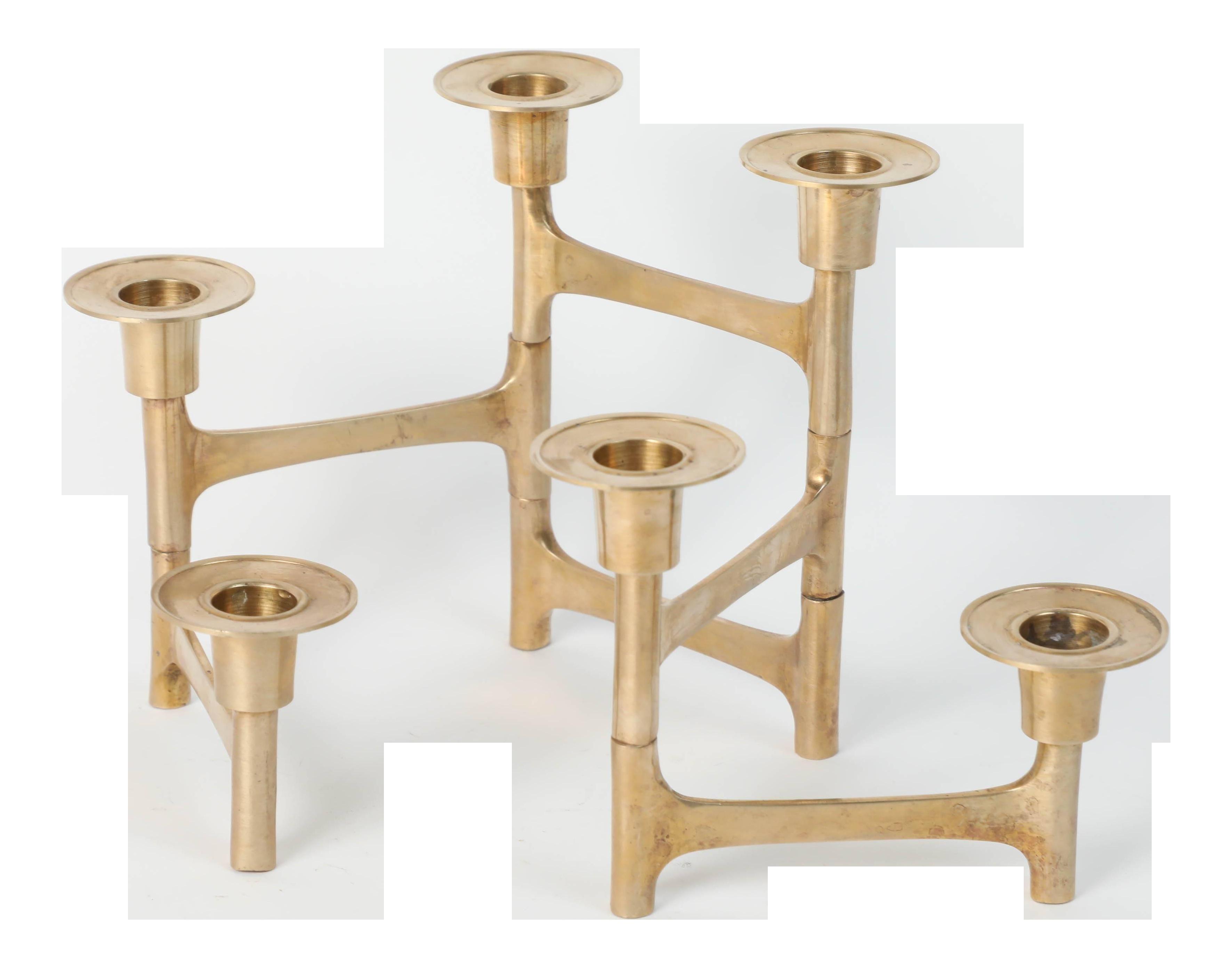 Danish Mid Century Modern Brass Articulating Candleholder Nagel Style Chairish