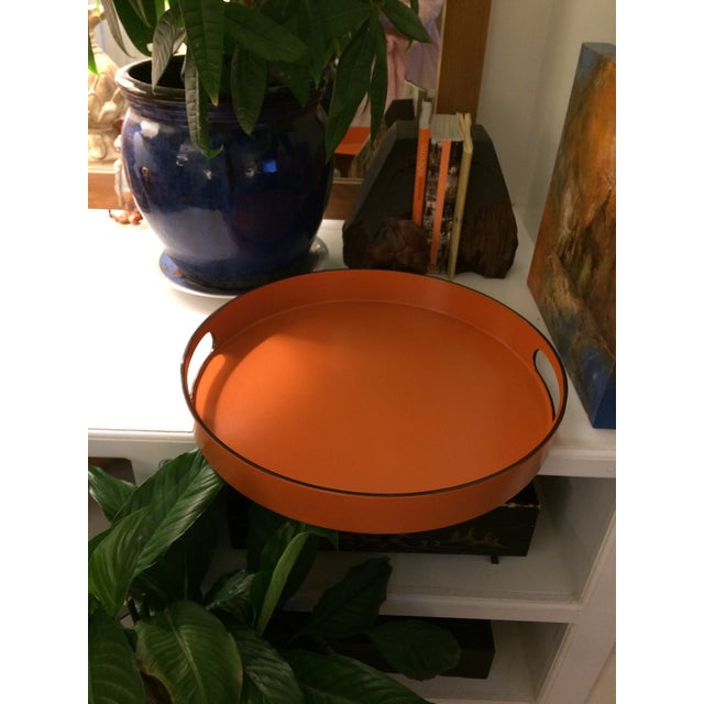 Hermes Style Orange Lacquer Serving Tray - Image 9 of 10